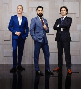 MILLION DOLLAR LISTING SAN FRANCISCO -- Season:1 -- Pictured: (l-r) Andrew Greenwell, Roh Habibi, Justin Fichelson -- (Photo by: Andrew Eccles/Bravo)